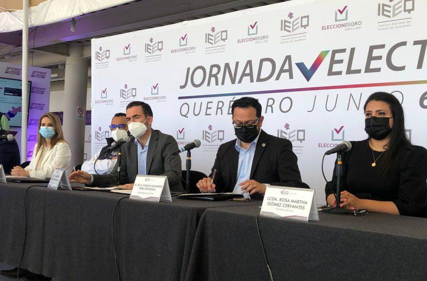 Jornada electoral del 6 de junio, de las más exitosas en la historia, dice IEEQ