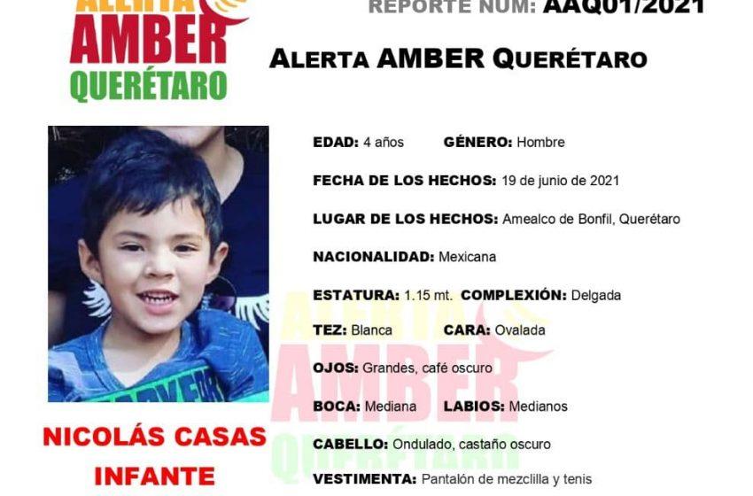 Reactivan Alerta Amber para niño desaparecido junto a su familia en Amealco
