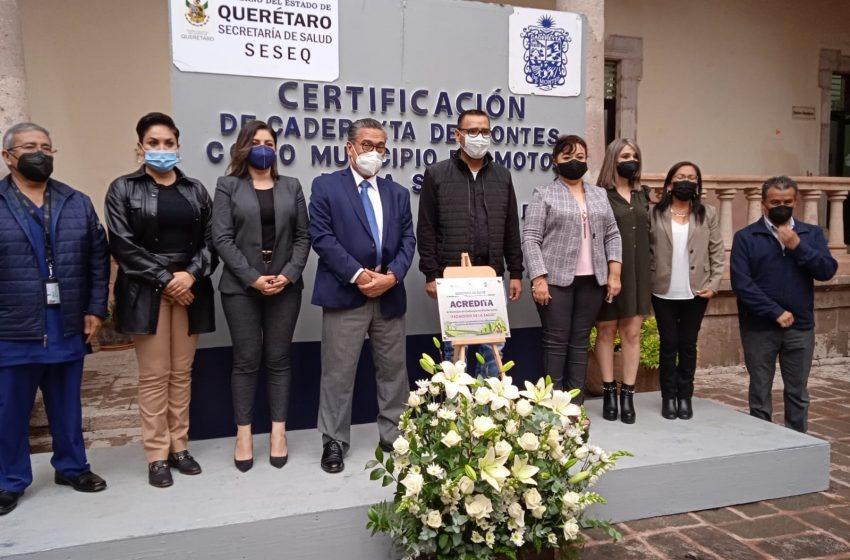 Tequisquiapan y Cadereyta reciben certificación como Municipio Promotor de la Salud 2018-2021