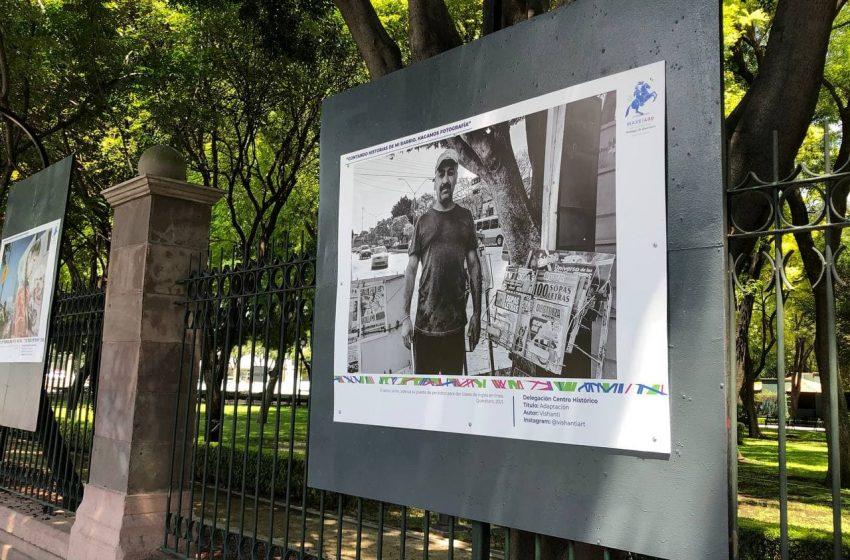 Celebran barrios de Querétaro con exposición fotográfica en la Alameda