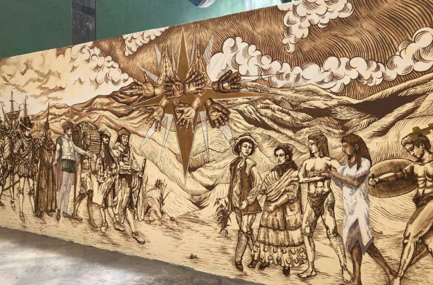 Conmemoran con murales aniversario 500 de la caída de Tenochtitlán