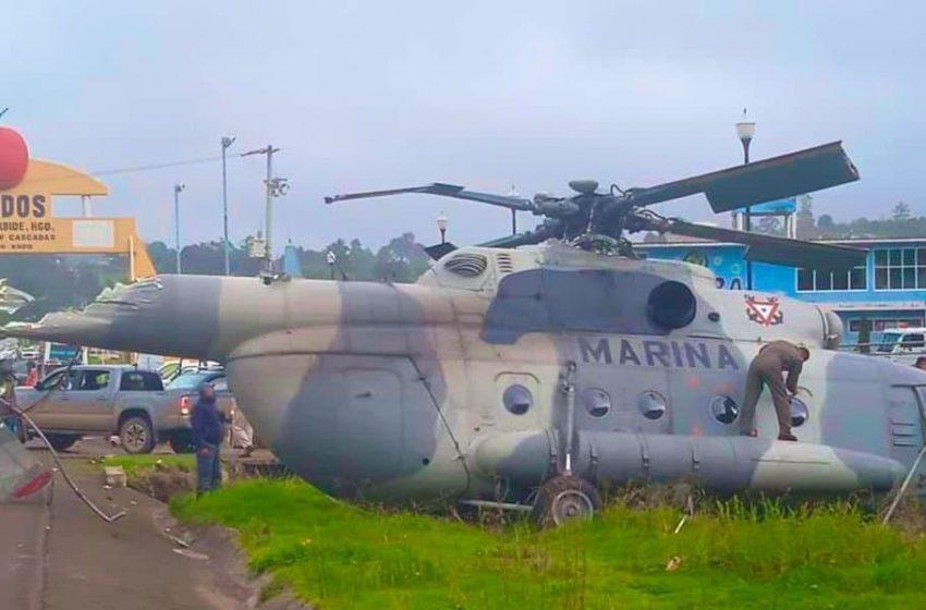 Cae helicóptero en el que viajaba secretario de gobierno de Veracruz