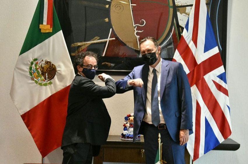 Mauricio Kuri se reúne con embajador del Reino Unido en México