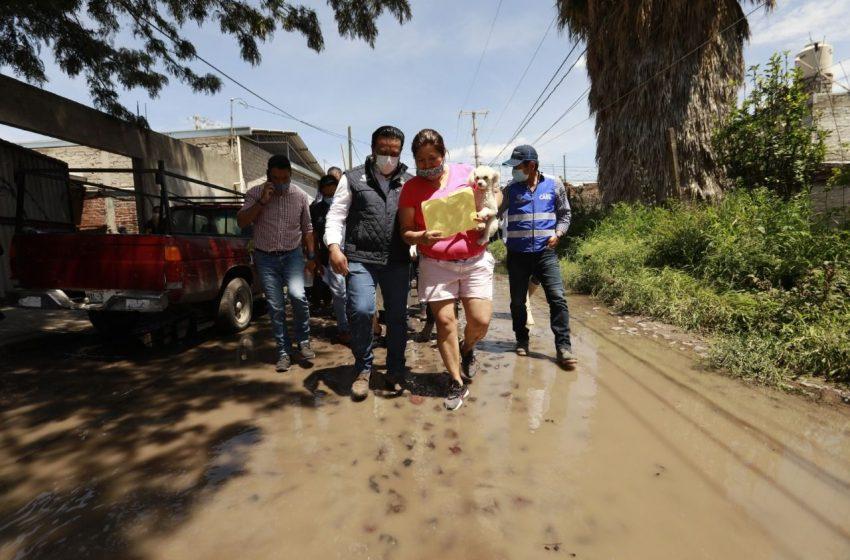 Municipio de Querétaro atiende afectaciones en Santa María Magdalena a causa de las lluvias