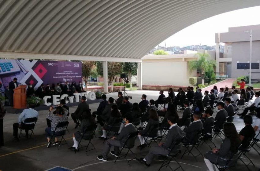 Inaugura CECyTE Querétaro ciclo escolar 2021–2022 e infraestructura educativa