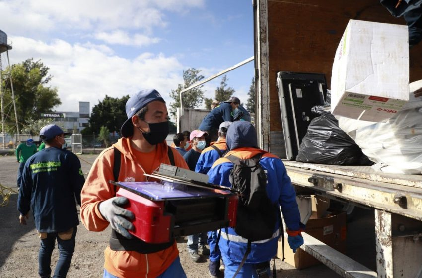 Organizan mega jornada de recolección de residuos en el Auditorio Josefa Ortíz de Domínguez