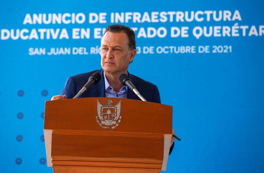 Invertirá gobierno de Querétaro más de 63 mdp en espacios educativos