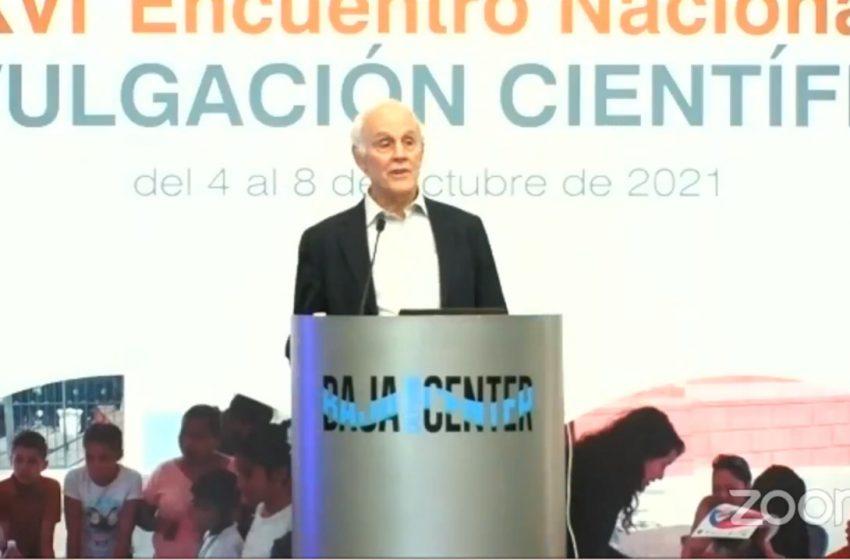 Premio Nobel de Física visitó México para participar en evento de Divulgación Científica