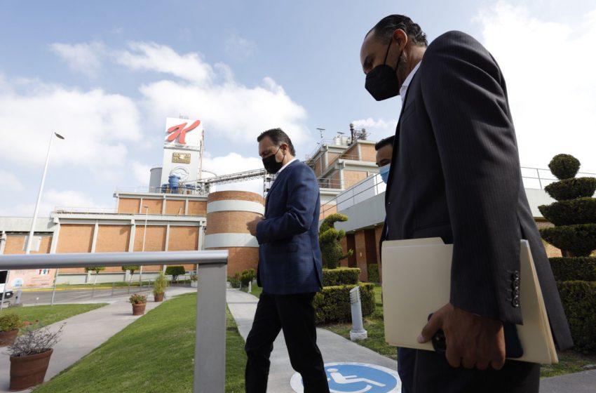 Asiste gobernador a la inauguración de la ampliación de la planta de Kelloggs en Querétaro