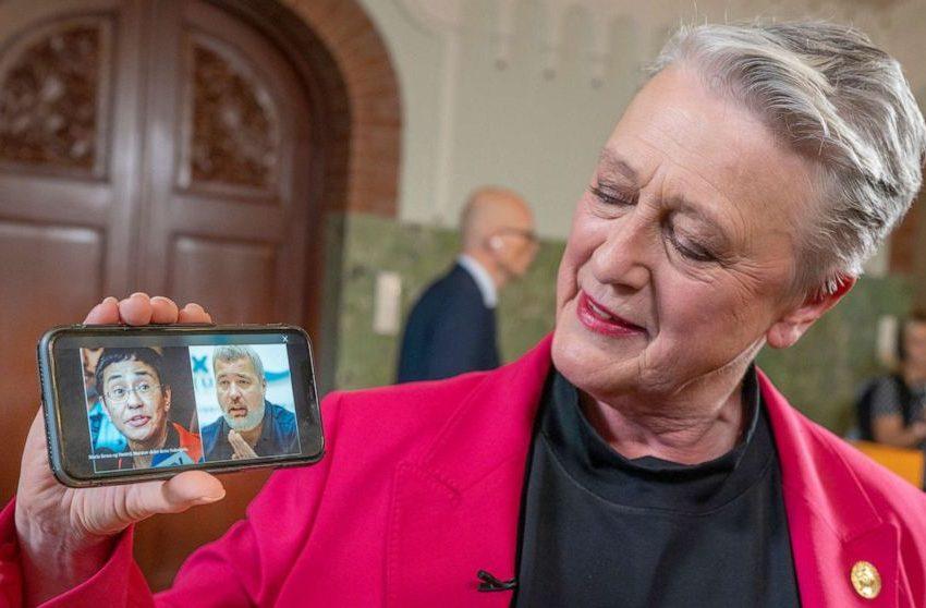 Entregan Nobel de la Paz a dos periodistas