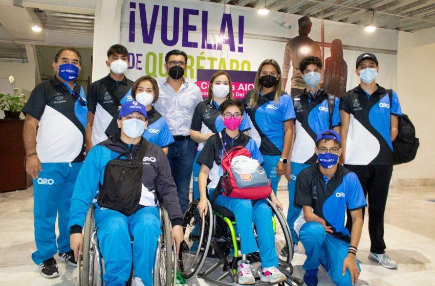 Queretanos viajan a Juegos Paranacionales 2021